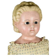 "Wax-Over-Composition Shoulder Head Doll, 23"" tall"