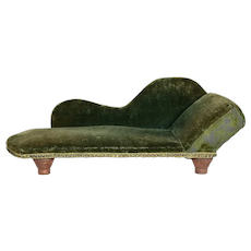 "Fainting Couch For French Fashions or 18"" dolls, 1870's"