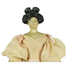 "Milliners' Model, 10"" tall, Double Apollo Knot Hairdo"