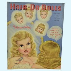 """Hair-Do Dolls"" Mint & Uncut Paper Dolls, 1948"
