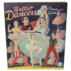 """Ballet Dancers"" Paper Dolls, 1947, Uncut and Complete"