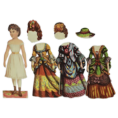 """""""Betsy Brunette"""" Paper Doll by McLoughlin Bros, 1870"""