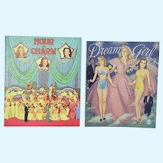 2 Uncut 1940's Paper Doll Books, Mint