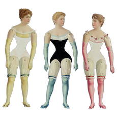 Jointed Activated Paper Dolls, ca. 1885, German