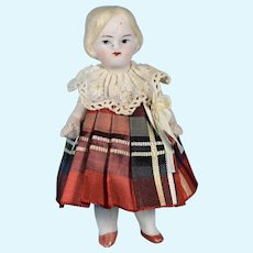 "All Bisque Girl, German, 3 1/2"" tall"