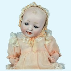 "Cabinet Size Bisque Head Baby Doll #151, 9 1/2"" tall"