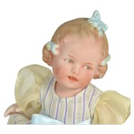 "All Bisque Coquette By Gebruder Heubach, 6"" Tall"