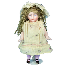 """German All Bisque Doll, 6"""" tall"""