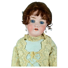 """Handwerk Halbig Bisque Head Child Doll, 25"""" tall, Lovely Clothing"""