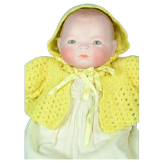 """Bisque Head Bye-Lo Baby, 13 1/2"""" tall"""