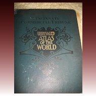 1899  Cincinnati Commercial Tribune Unrivaled Atlas of World Maps free P&I US Buyers