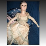 """29"""" Compo & Cloth Boudoir Bed Doll Free P&I US Buyers"""