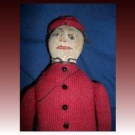 "OOAK  12"" Primitive Sock Boy Doll Free P&I US Buyers"