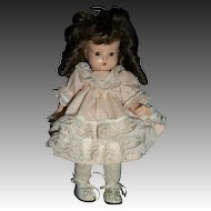"""8"""" AM Just Me Bisque Doll Unknown maker Free p&I US BUYER"""