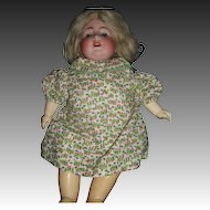 "17"" Large K&K Bisque Compo  DOLL free P&I US Buyers"