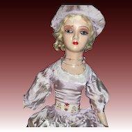"28"" Boudoir Doll Art Deco Style lashes TlC Free P&I US Buyers"