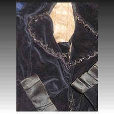Beautiful Victorian Mourning Jacket Jet Trim Free P&I UsS Buyers