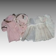 Adorable Hat Coat Dress Slip for Larger Baby dolls Effanbee Dy Dee Alexander Free P& I US Buyers