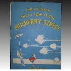 1937 Dr. Seuss And to Think I saw it on Mulberry  St Free P&I US BUyers