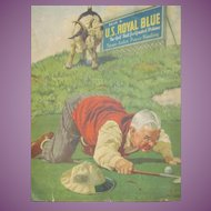 Awesome J F Kernan U S ROYAL BLUE Vintage Golf Ball Advertising picture Free P&I US Buyers