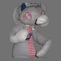 "Rare 1972 40"" Annalee Mobilitee Patriotic Republican Elephant Free P&I US Buyers"