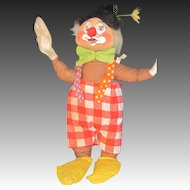 """Vintage Annalee red tag  19"""" clown doll Free P&I US Buyers"""