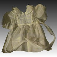 Beautiful hand made organdy Smocked Dress for Dy Dee baby doll & and Friends Free P&I US Buyers