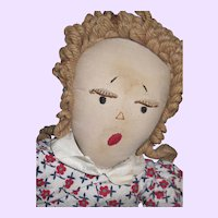 """19"""" Edih Flack type Cloth Pigtail Rag Doll with lashes Free P&I US Buyers Free P&I US Buyers"""