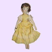 "15"" Cloth Edith Flack type Cloth Doll free P&I US Buyers"