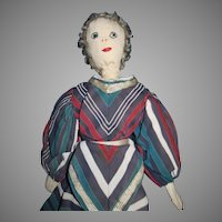 """12"""" Edith Flack type cloth hand made doll Free P&I US Buyers"""