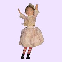 """9"""" Edith Flack type cloth doll Unique look free P&I US Buyers"""