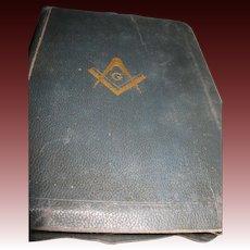 1940 Masonic Old & New Testaments King Solomons in Masonry Bible Free P&I US Buyers