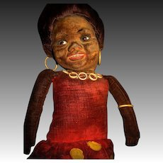 """Awesome 17"""" Cloth Norah Wellings Native Doll Free P&I US Buyers"""