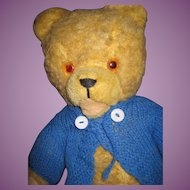 "Vintage 17"" Jointed teddy Bear ""I am Looking for a Home"" Free PI US Buyers"