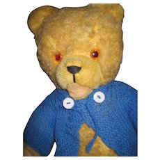 """Vintage 17"""" Jointed teddy Bear """"I am Looking for a Home"""" Free PI US Buyers"""