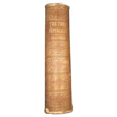 1857 The Republican Presidential Inagural and Farewell address Jonathan French Free P&I US Buyers