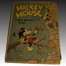 HRF 1933 Disney Enterprise Pop UP Book Mickey in King Arthur'S Court Free P&I US Buyes