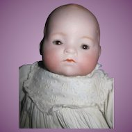 "Lovely 12"" Hendren Bisque Baby Doll Free P&I US Buyers"