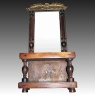 """Beautiful 12"""" Salesman's Sample Pier Mirror for China or bisque dolls Free P&I US Buyers"""