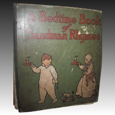 1904 Rare A Bedtime Book Sandman Rhymes Willard Bonte Free P&I US Buyers