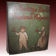 1904 Rare A Bedtime Book Sandman Rhymes Willard Bonte Free P&I US Buyers