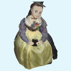 Exquisite Cloth Tea Cozy Doll Else Hecht Munich Art Movement Free P&I US Buyer