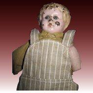 "10"" Metal Tin Head Glass eyes Boy Doll Free P&I US Buyers"