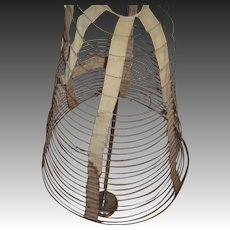 1800's Rare Victorian Hoop skirt to wear under vintage gowns Free P&I S Buyers