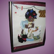 Very Cute Charlot BYJ Black Child Picture Free P&I US Buyers