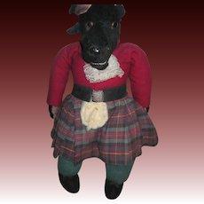 "Outstanding 21""  Vintage Scott Scottish Wolf Steiff, Merrythougt,  Must L@@K Free P&I US Buyers!"