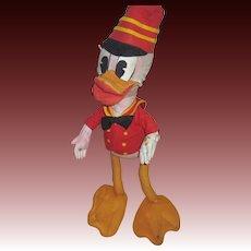 "Vintage Large 21"" Donald Duck Drum Major Felt Free P&I US Buyers"