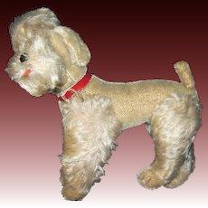 """Vintage 9"""" Steiff White poodle Dog Free P&I US Buyers"""
