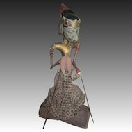 Awesome Wood Wooden Indonisian Display Puppet 19th Century Free PI US Buyers