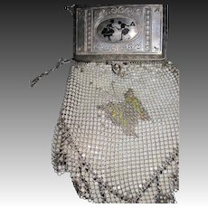 Beautiful W&D Deco Butterfly  Mesh Compact bag Free P&I US Buyers